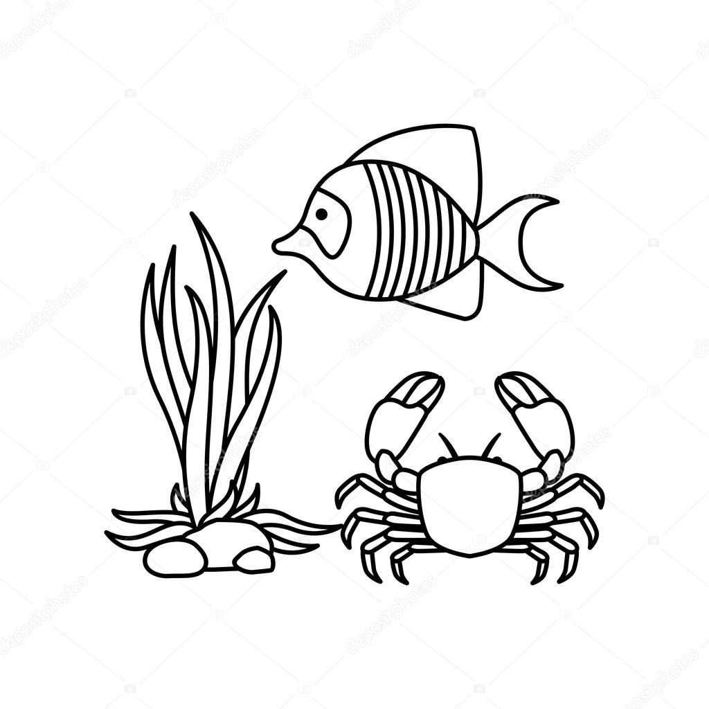 Sea Life Logo Template