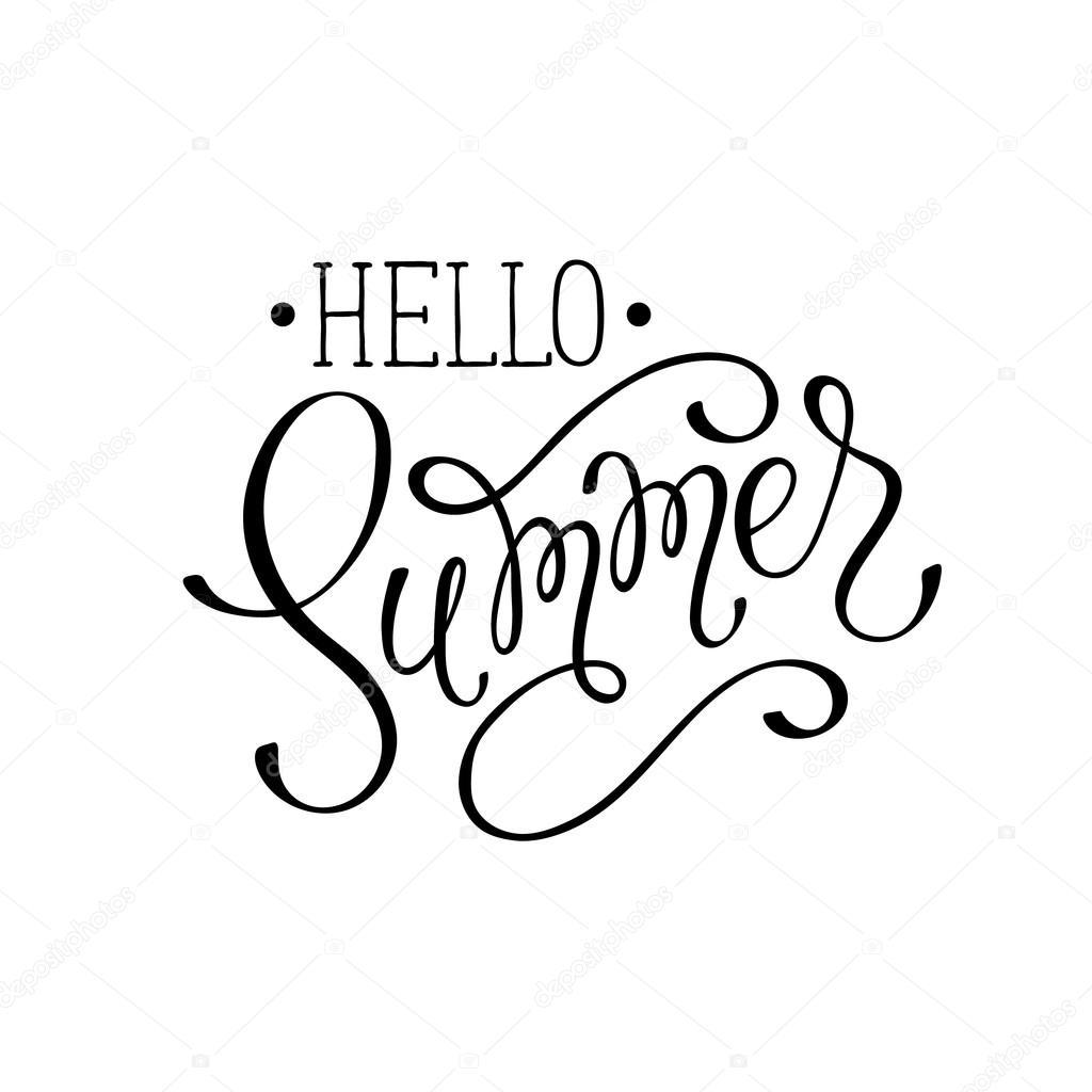 Hello Summer Wording