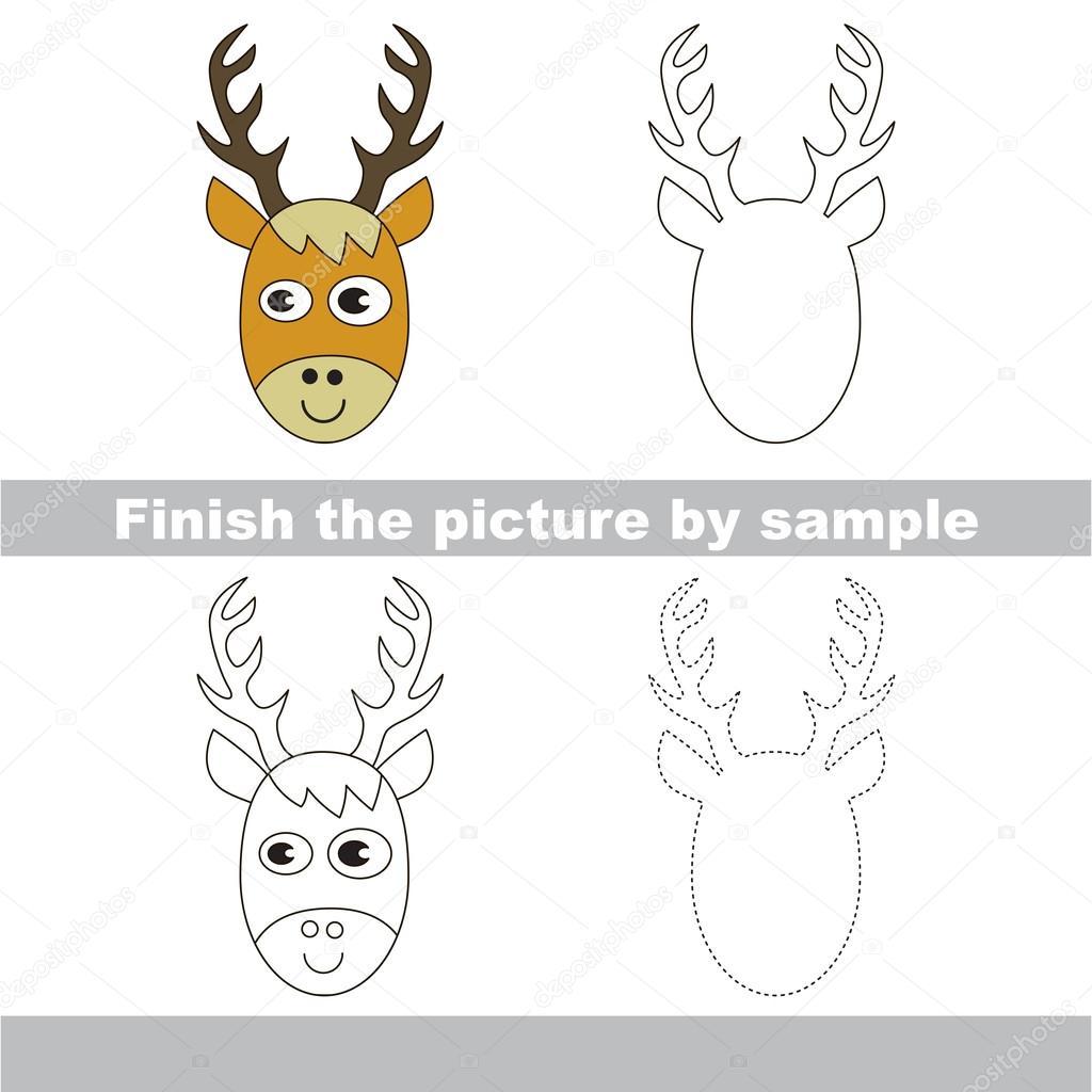 Deer Head Drawing Worksheet