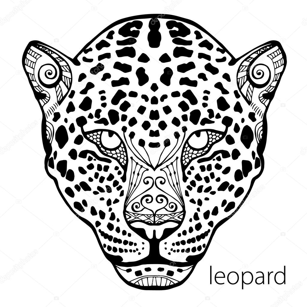 The Black And White Leopard Print With Ethnic Patterns