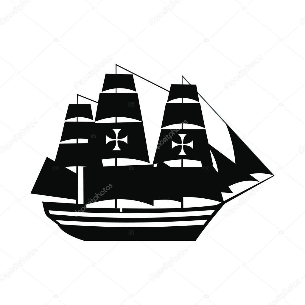 Icono De Barco De Colon