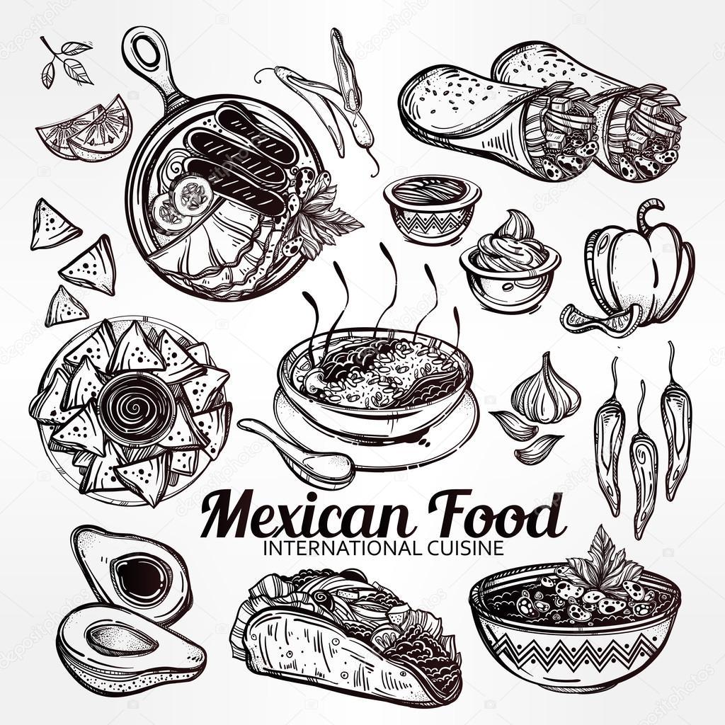 Mexican Food Vector Set