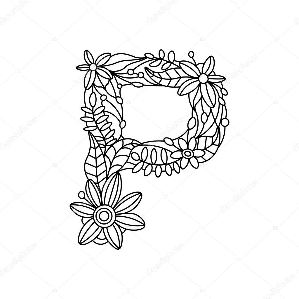 Mandala Letter P Novocom Top