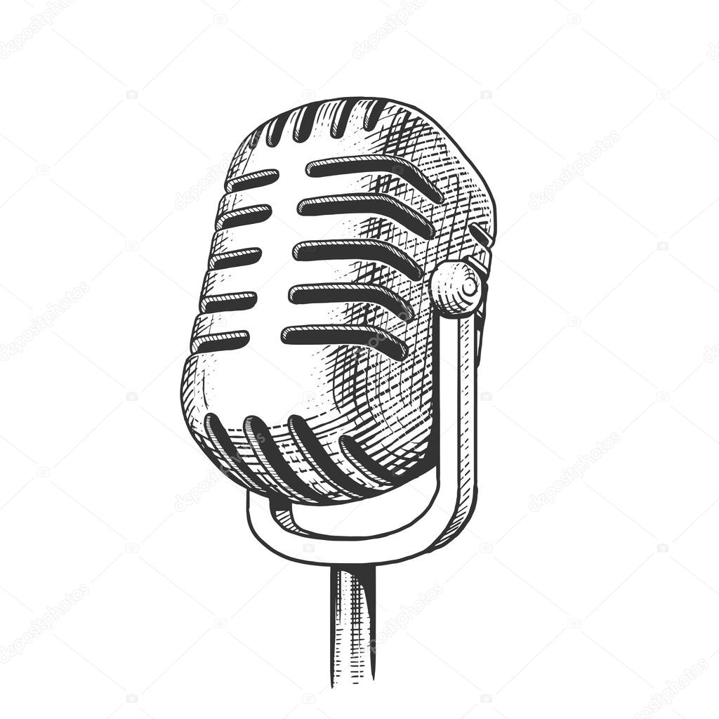 Dibujos Microfonos Dibujados