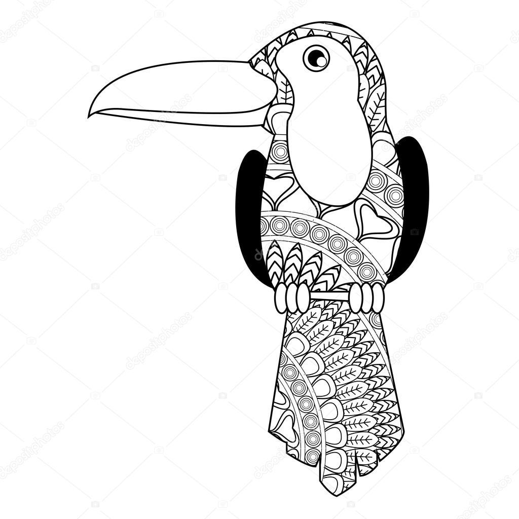 Toucan Mandala Icon