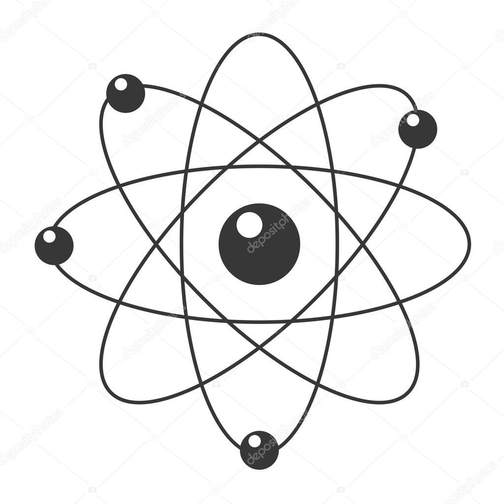 Icono De Dibujos Animados Atomo