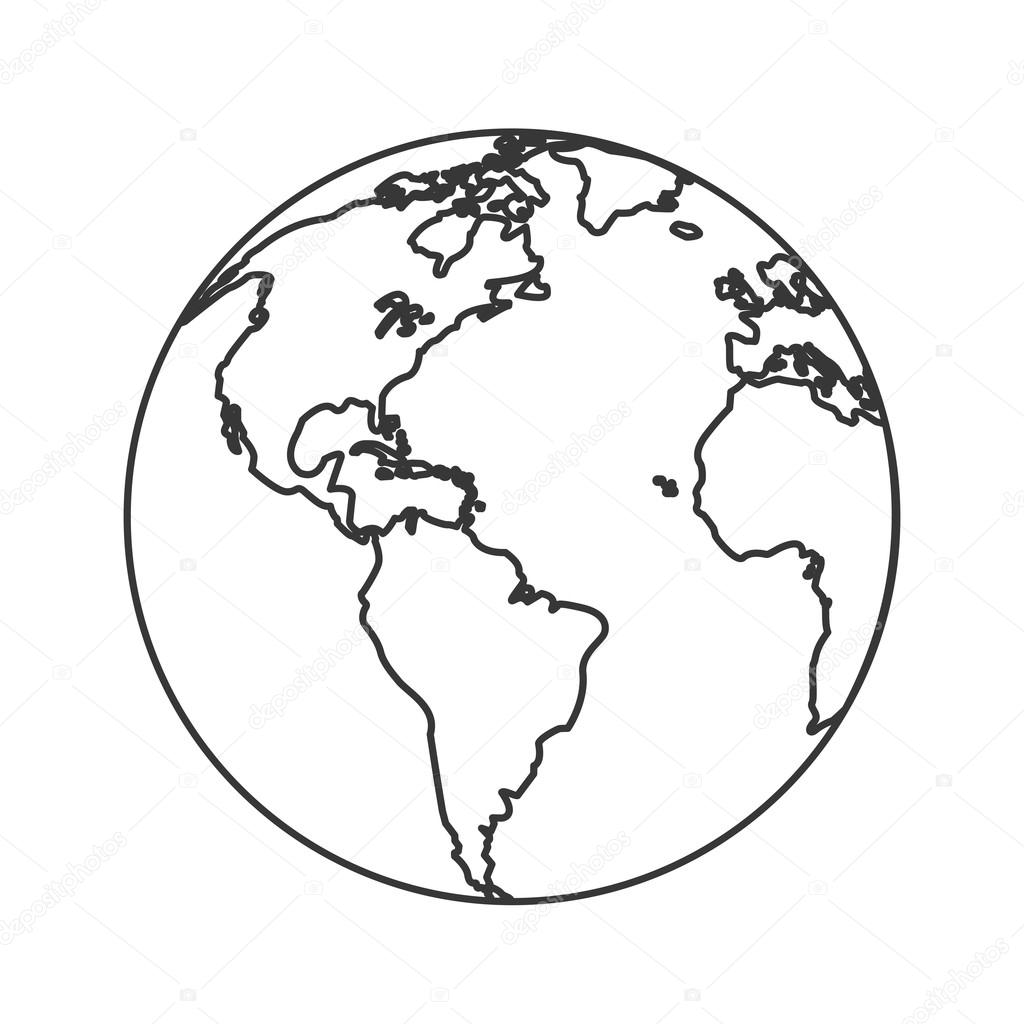 Erde Globus Symbol
