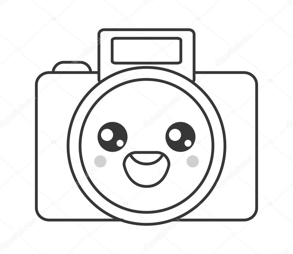Icono De Camara Fotografica De Kawaii