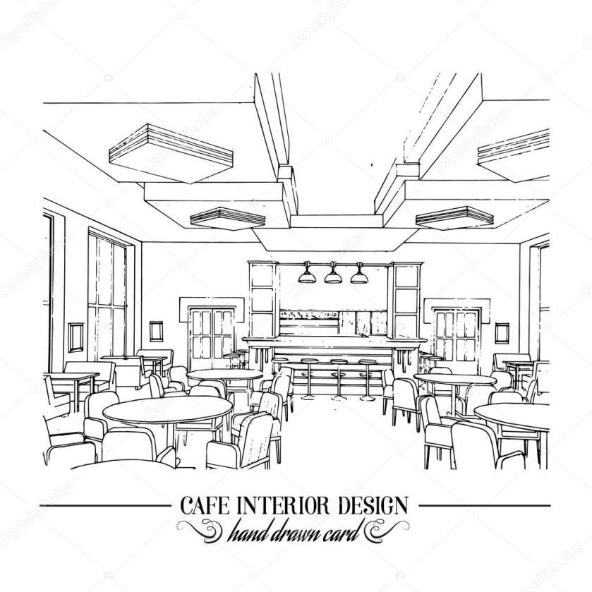 imágenes ilustración del restaurante  mano ilustración