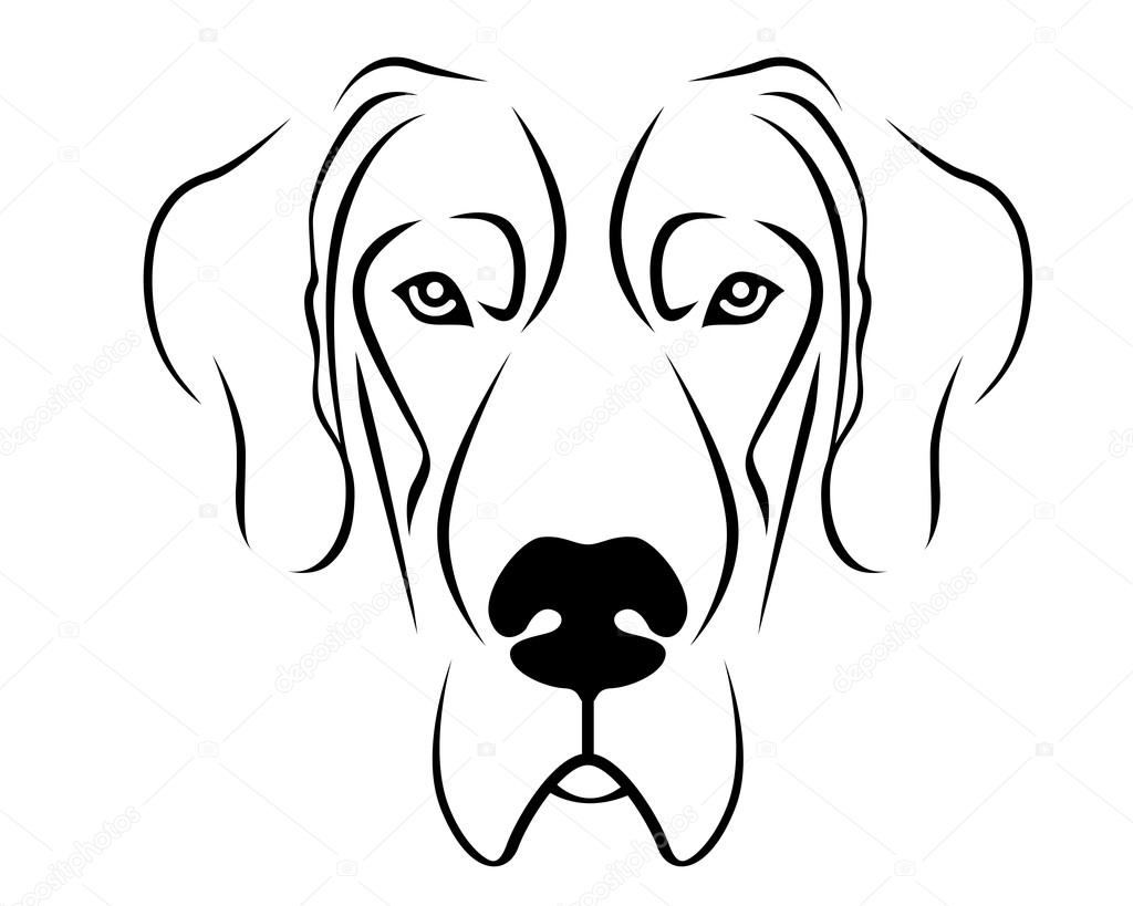 Dog Breed Line Art Logo
