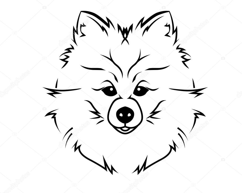 Perro Raza Linea Arte Logo