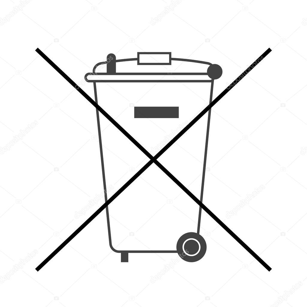 No Big Trash Bin Icon