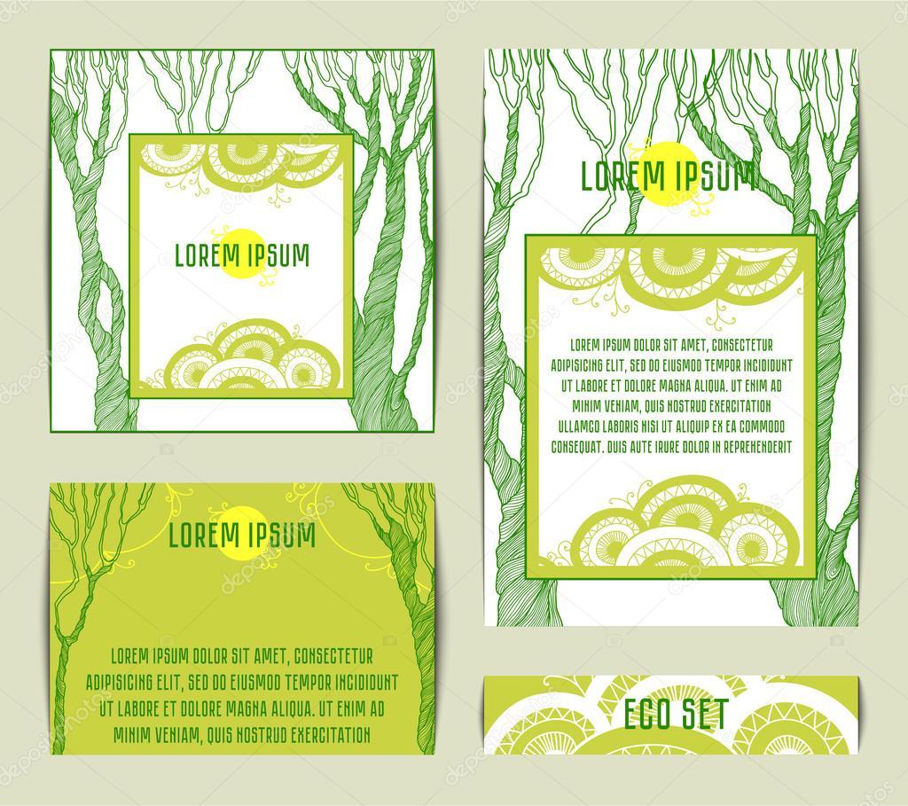 https depositphotos com 100400514 stock illustration set of card with green html