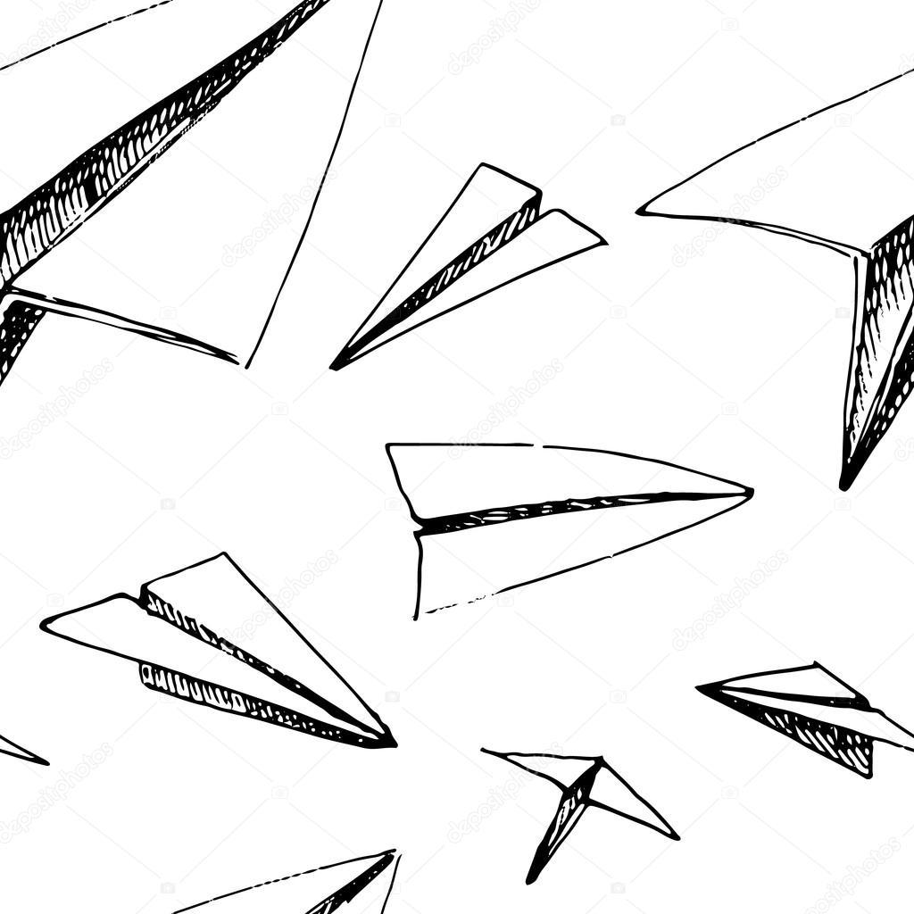 Vector Aviones Papel
