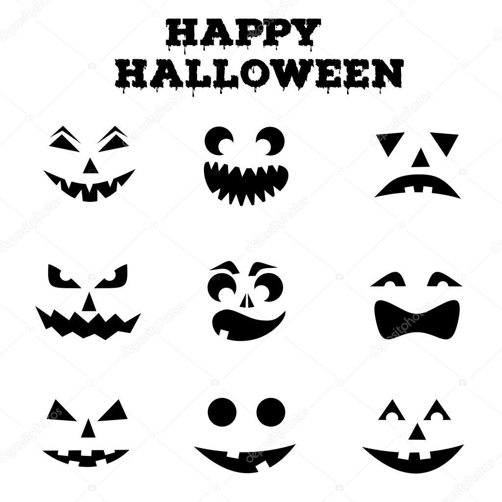 Dibujos Siluetas Calabazas Halloween