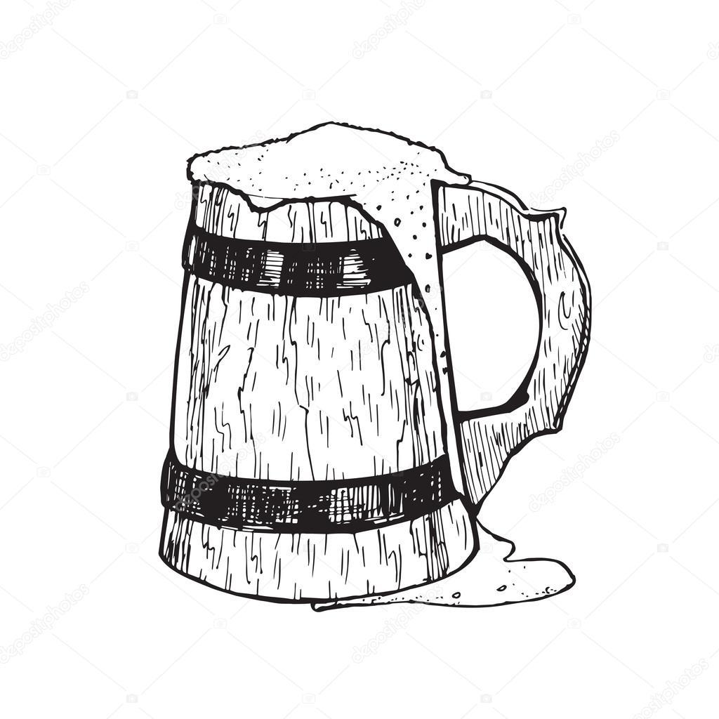 Beer Mug Vector Illustration Illustration Of A Foamy Beer
