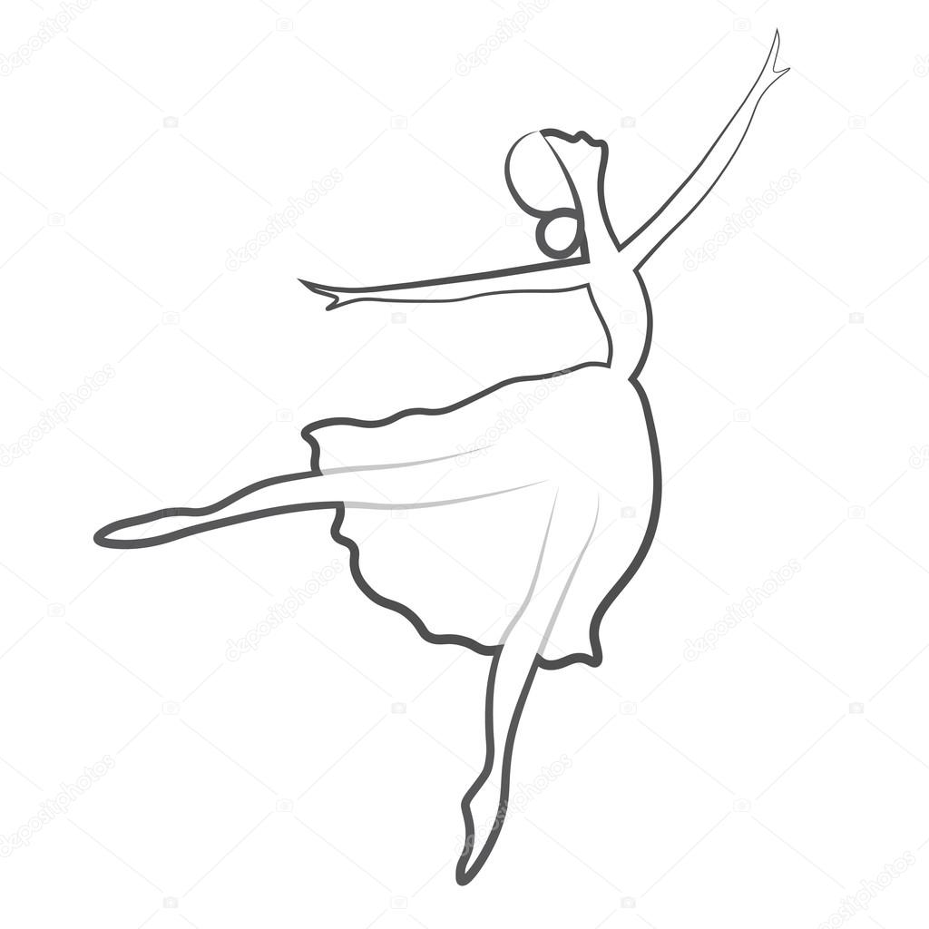 Vector Illustrations Of Ballet Icon Isolated On White