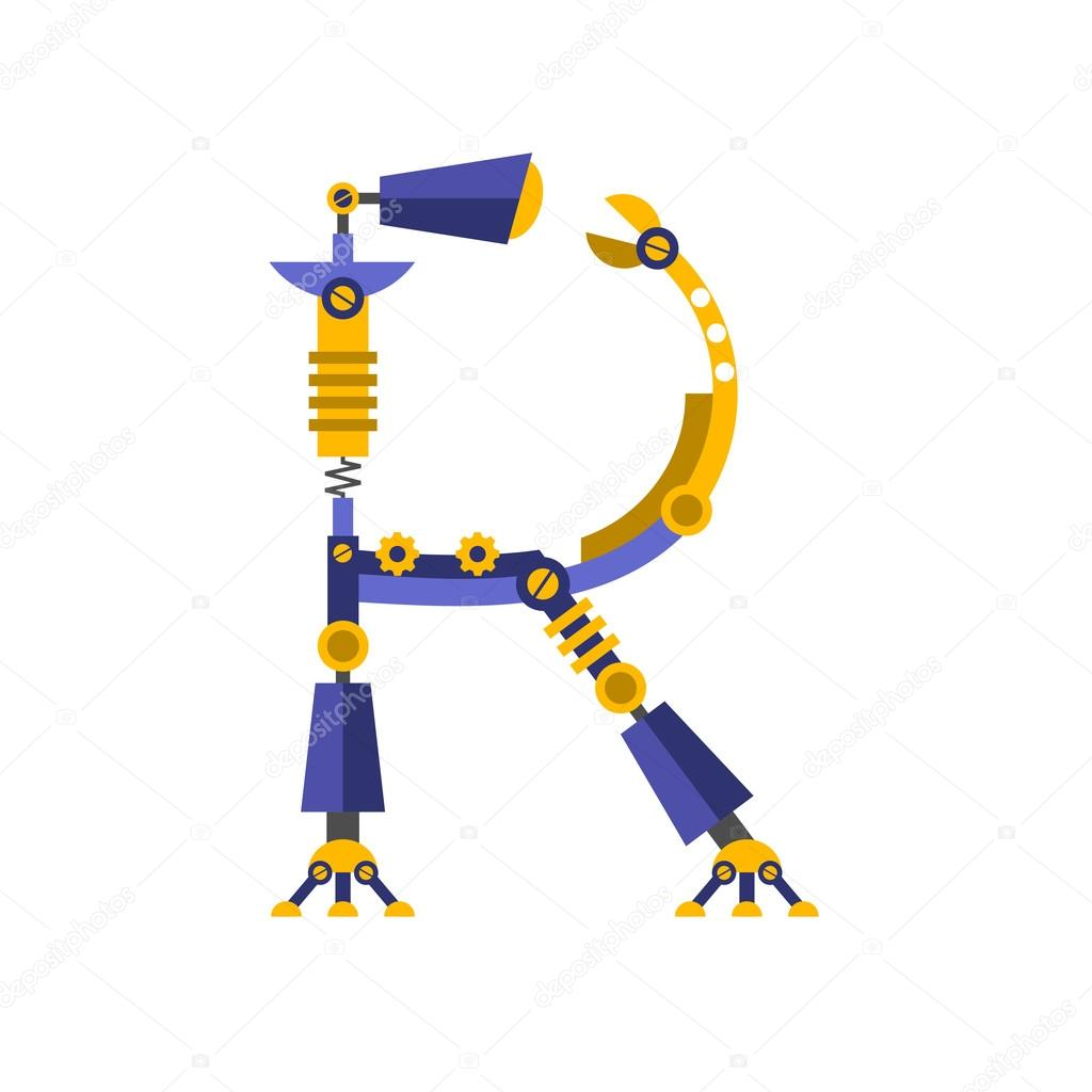 Robot Police De Caracteres Lettre R