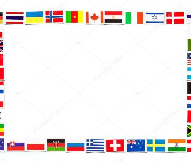 Marco Nacional De Banderas De Los Diferentes Paises Del Mundo Aislado Foto De Stock