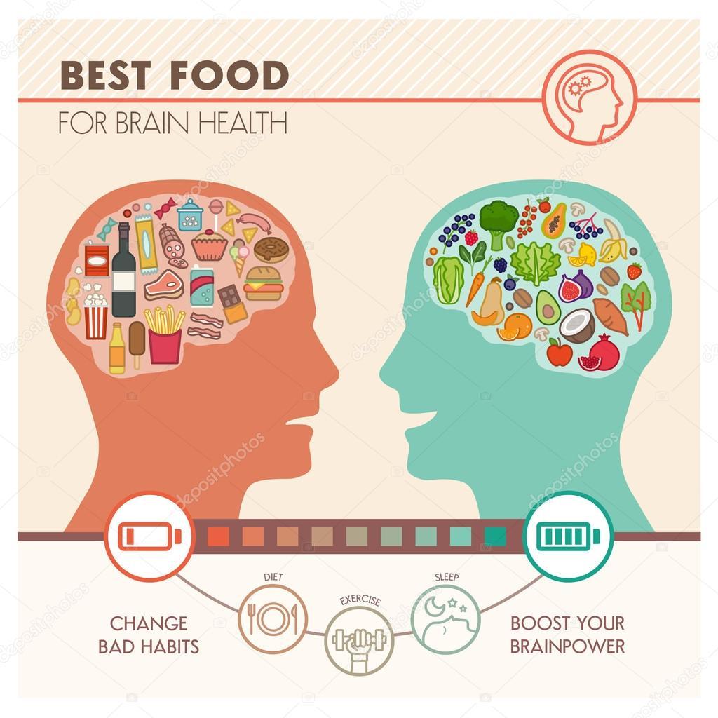 Melhor Alimento Para O Cerebro Infografico