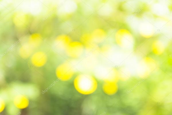 Fond vert et jaune bokeh. Brillant avec fond de couleur ...