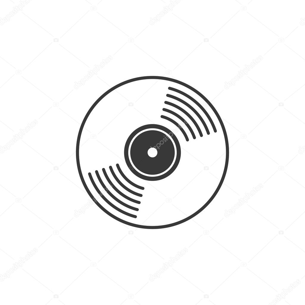 Compact Cd Disk Dvd Vinyl Record Vector Icon Isolated
