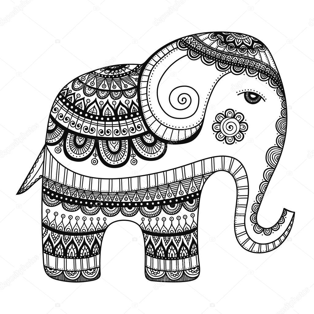 Doodle Indian Elephant