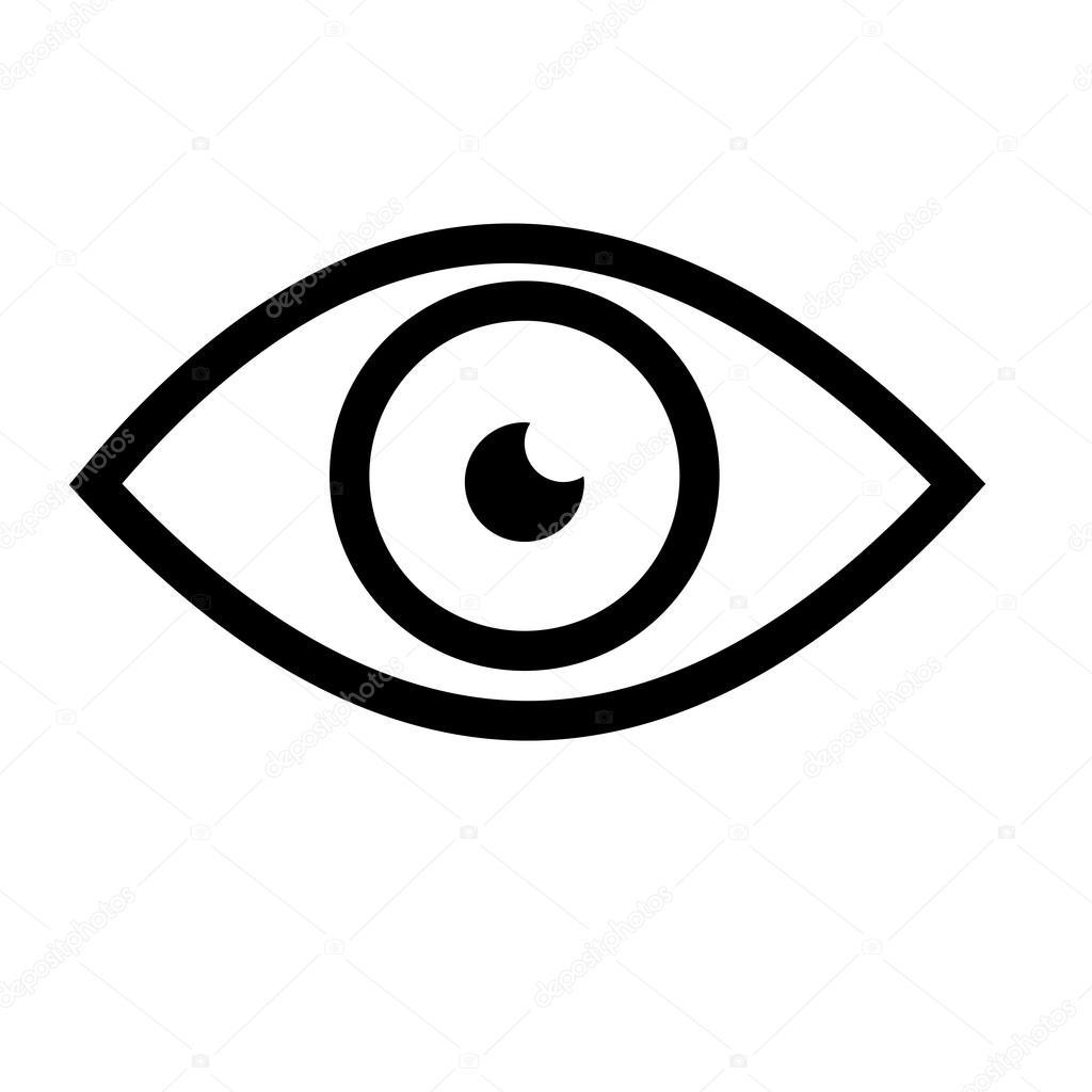 Eye Vector Icon Emblem Sticker Tag Symbol Element