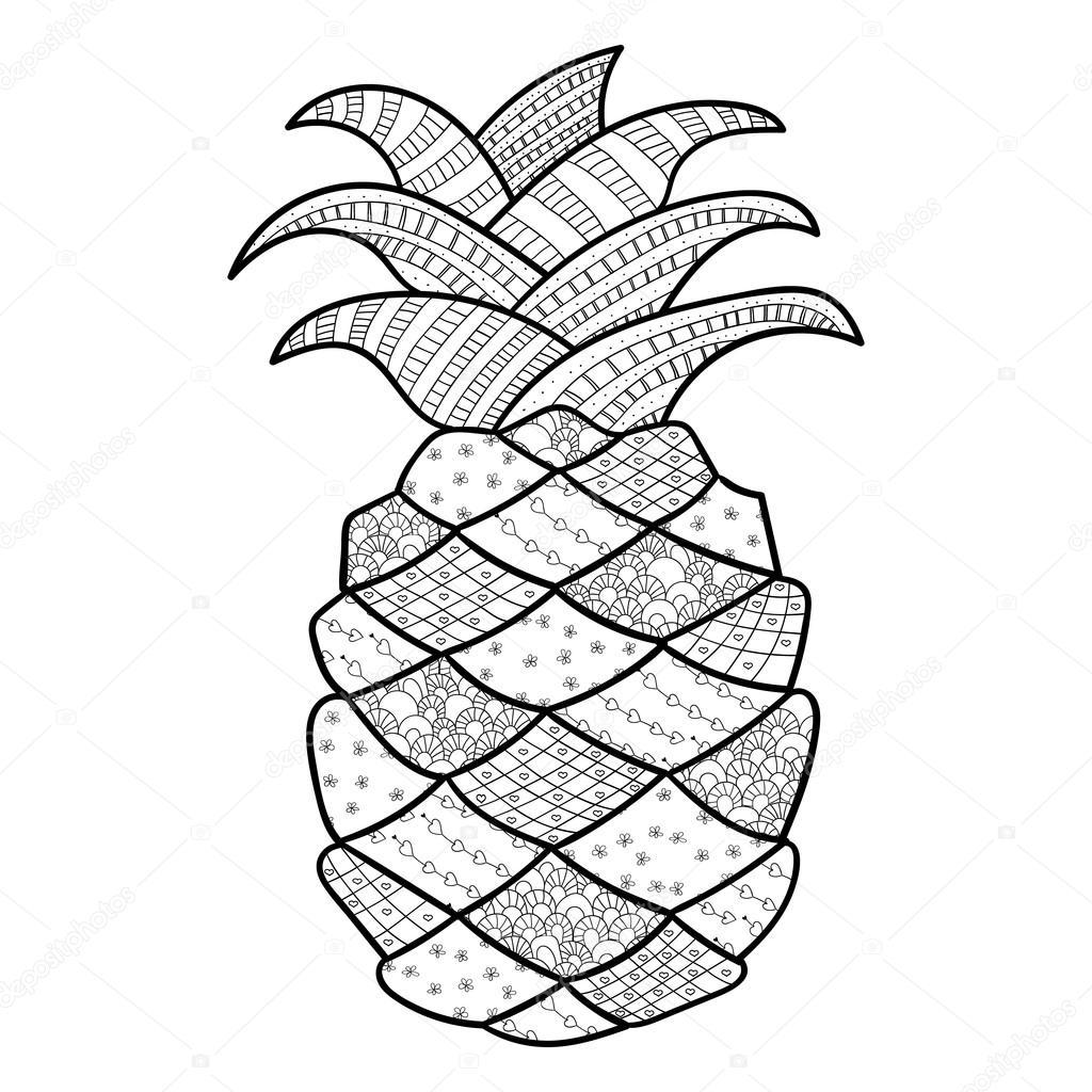 malvorlagen ananas kostenlos