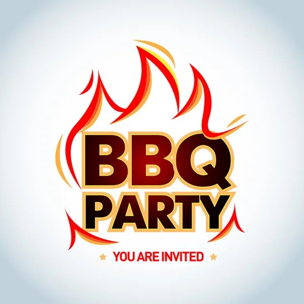 bbq party invitation vectors