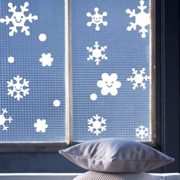 Light-protective film for windows with winter drawing photo