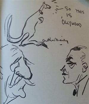 Charles Aubrey Smith and Vic Richardson – drawn by Arthur Mailey
