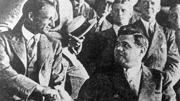Don Bradman meets Babe Ruth. Photo courtesy: Ric Sissons
