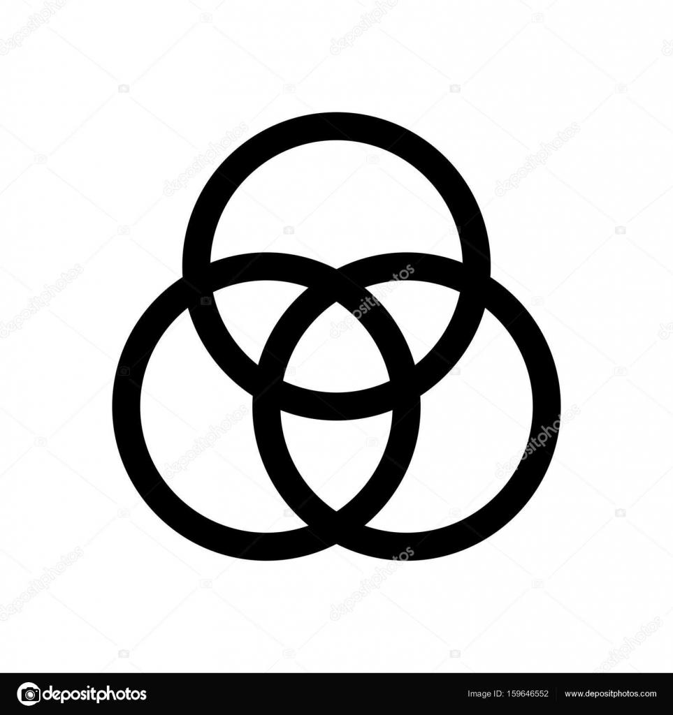 Icone Do Diagrama De Venn