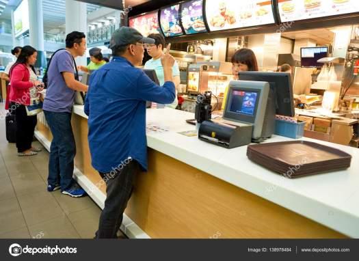 Counter service at McDonalds – Stock Editorial Photo © teamtime #138978484