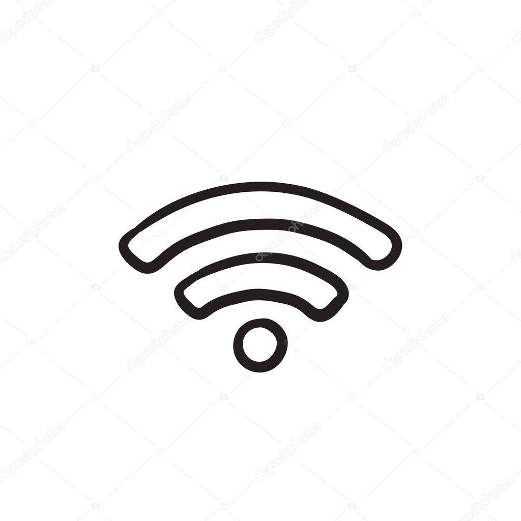 Signe Wifi Croquis Icone