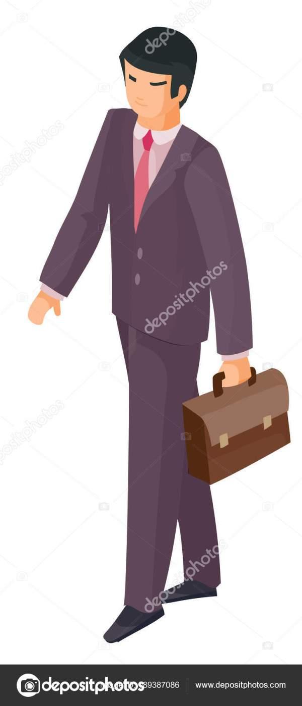 Человек с портфелем — Векторное изображение © Kopirin ...