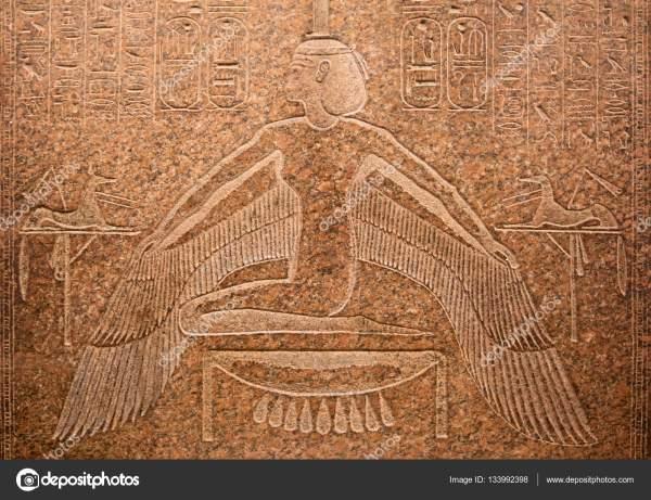 Египетские иероглифы на стене — Стоковое фото © swisshippo ...