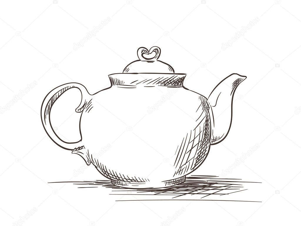 Sketch Of Tea Pot