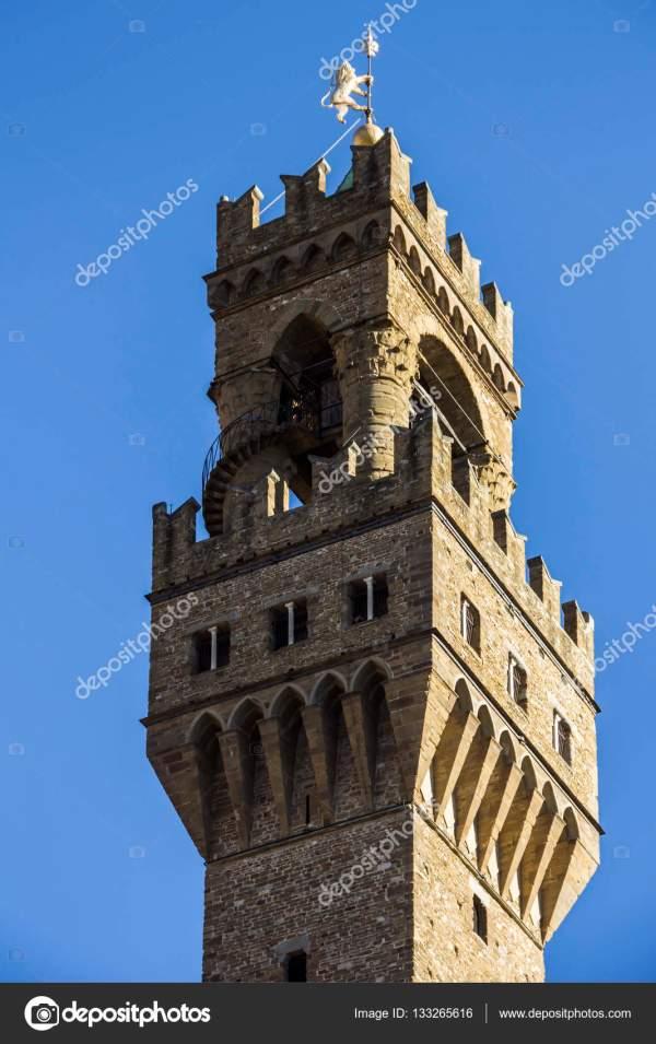 Башня Палаццо Веккьо, Пьяцца делла Феория, Флоренция ...