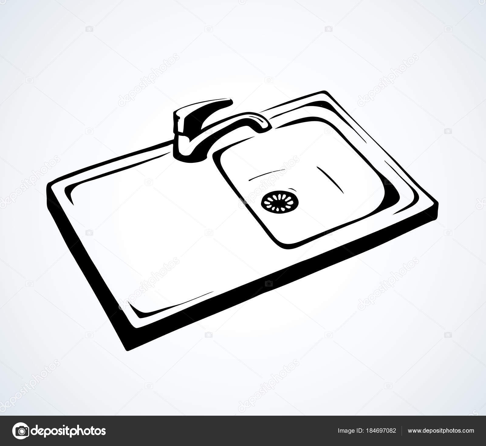 Kitchen Sink Vector Drawing