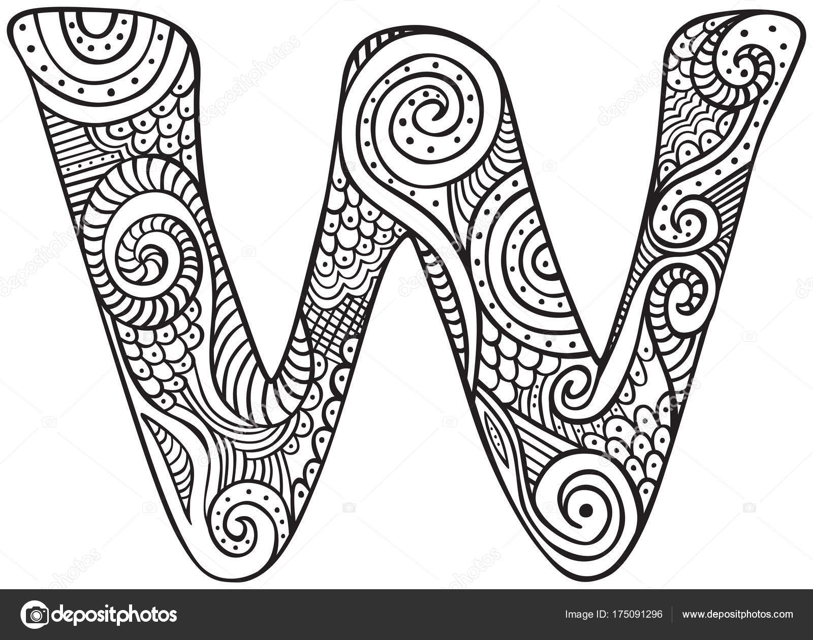Illustrated Letter W