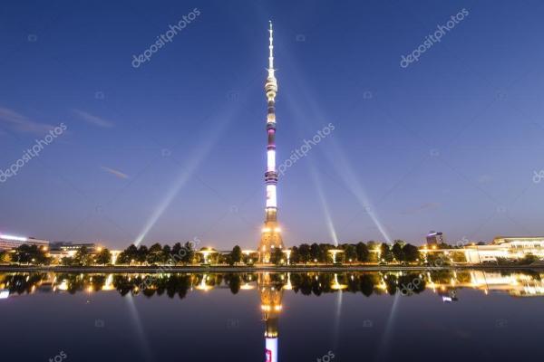 Фото останкинской башни. Телебашня (Останкино) в ночное ...