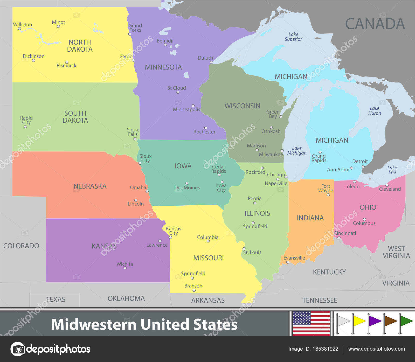 22 Blank Map Of Midwest States Images