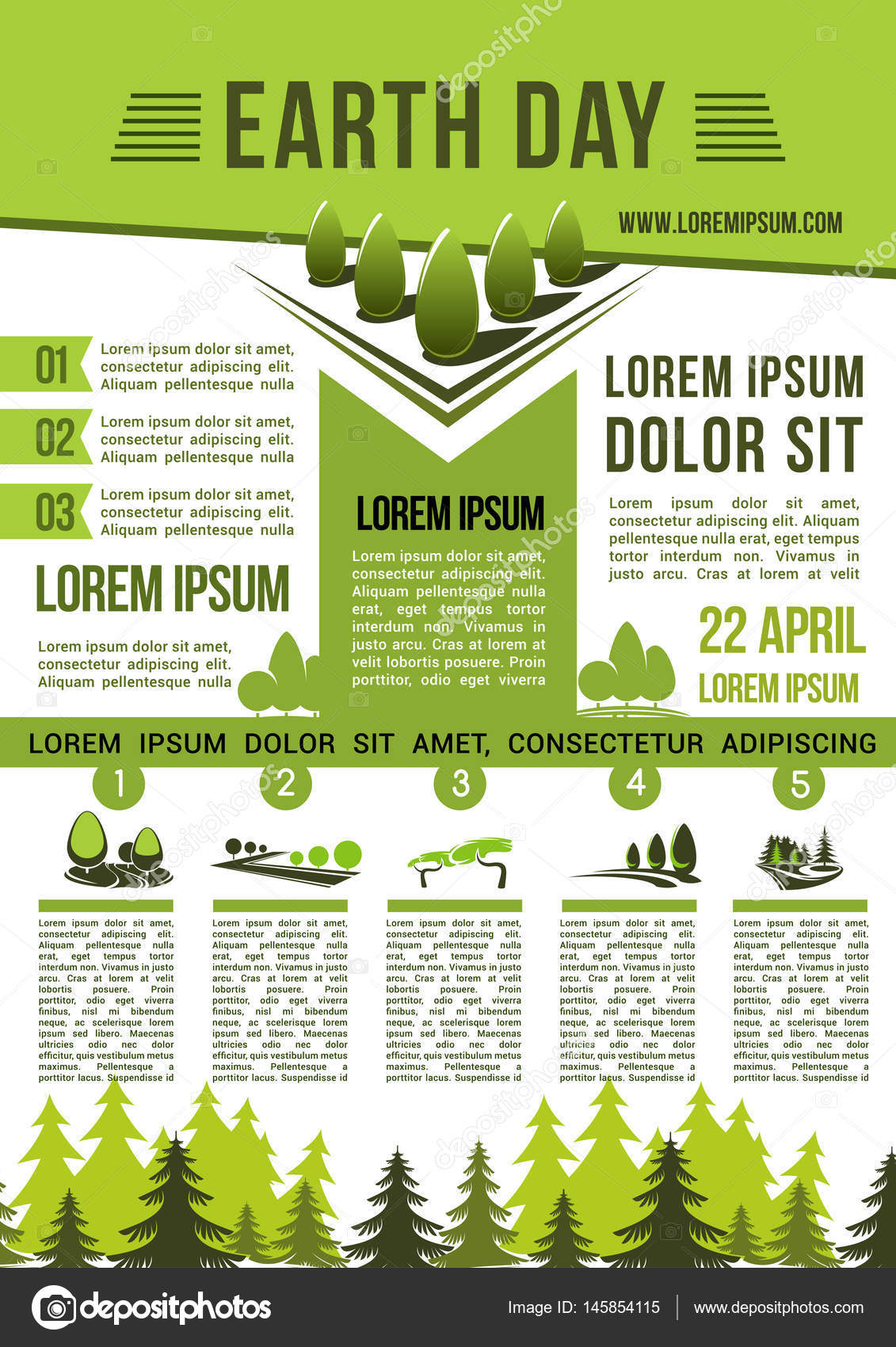 Save Earth Nature Information Vector Poster
