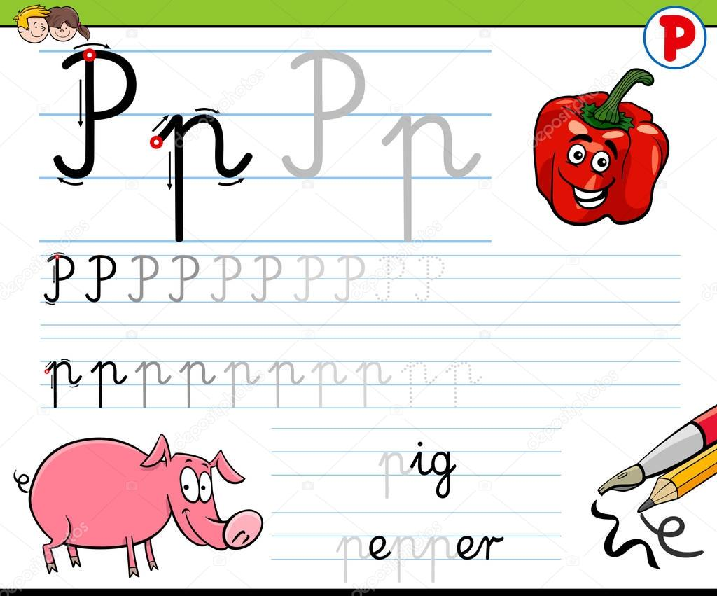 How To Write Letter P Worksheet For Kids