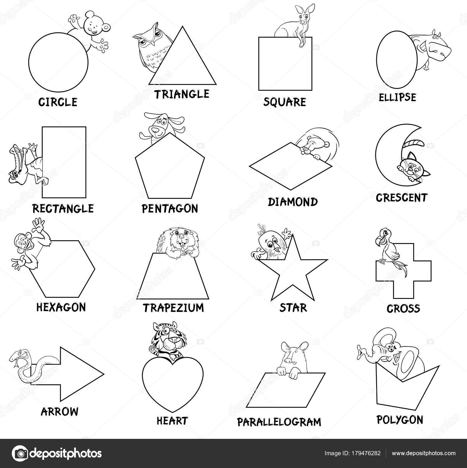 Dibujos Geometricos De Animales Para Ninos