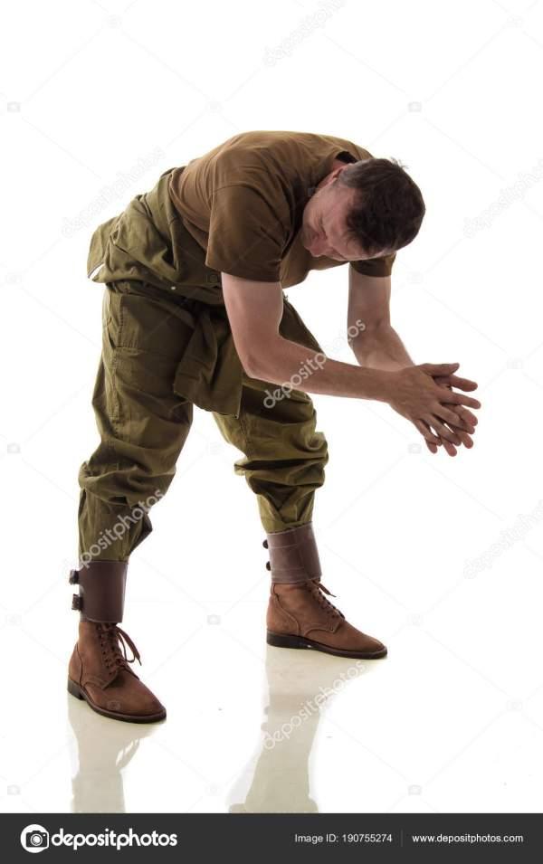 Актер Человек Военной Форме Американский Танкист ...