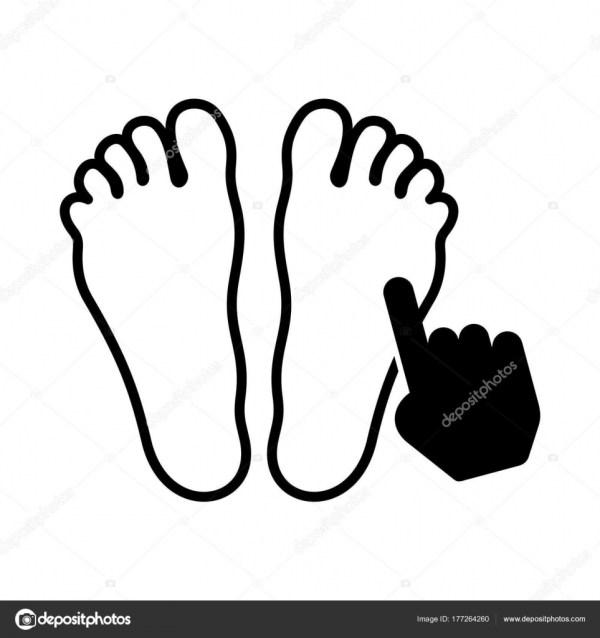 Символ Точечный Массаж Ног Ноги Руки — Векторное ...