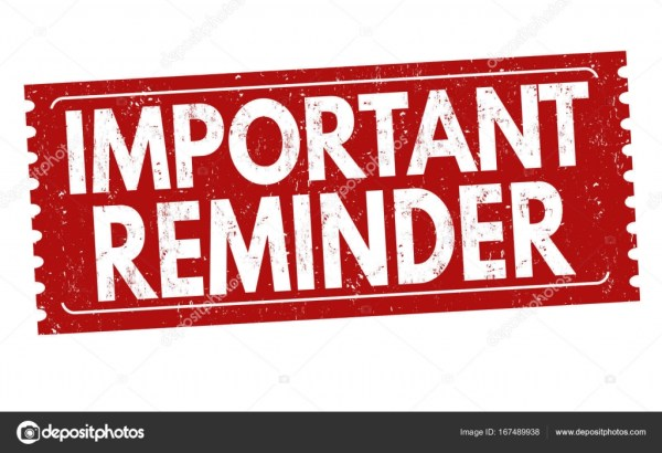 Important reminder sign or stamp — Stock Vector ...